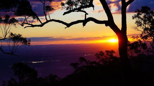 rockhampton sunset purple