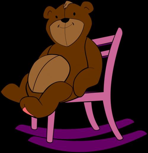 rocking chair stuffed animal teddy bear