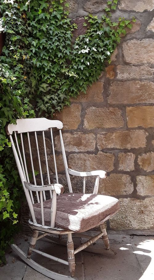 rocking chair happy wall