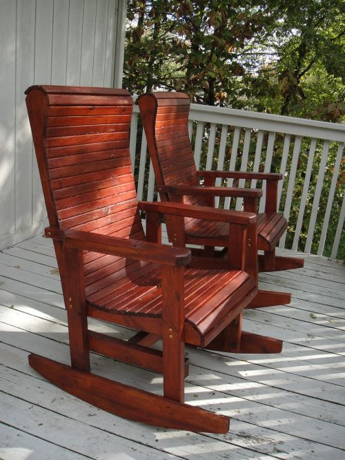 rocking chairs porch afternoon