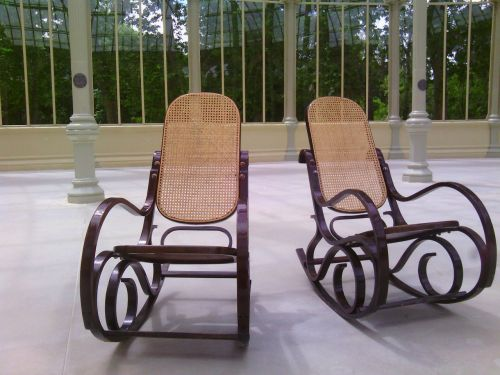 rocking chairs elderly still life