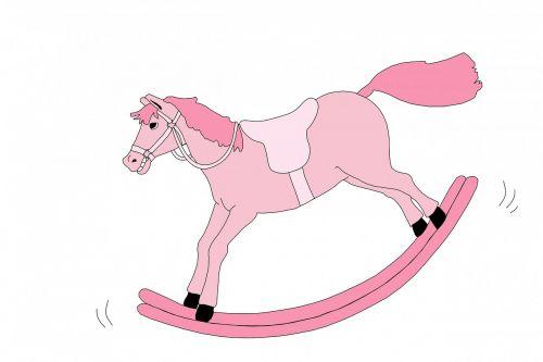 rocking horse horse pink