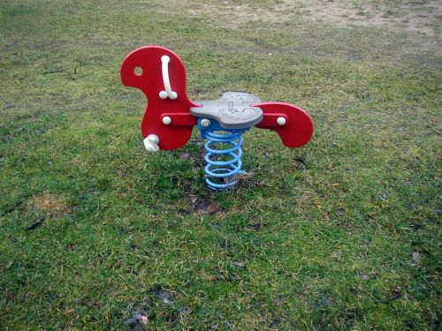 rocking horse playground game device