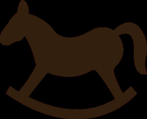 rocking horse horse brown