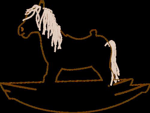 rocking horse toy rock