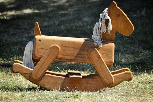 rocking horse  medieval market  rocking rocking horse