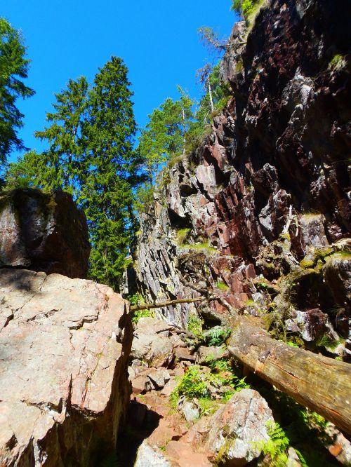 sweden natural reservation rocks