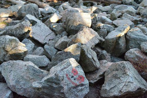 rocks happy rocks gray rocks