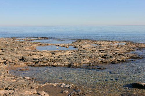rocks tide pools lake