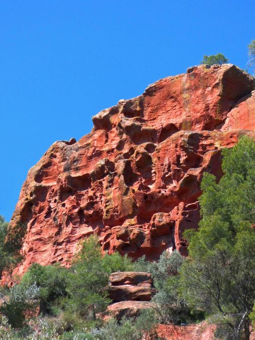 rocks red sandstone priorat