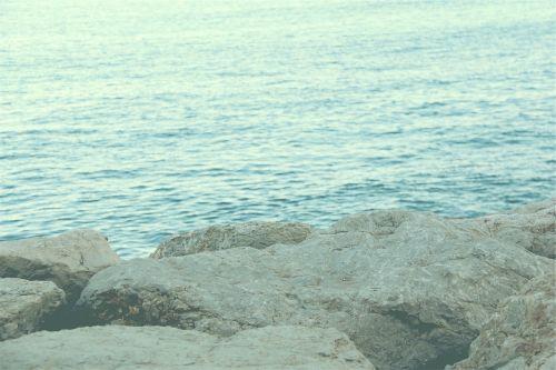 rocks boulders ocean