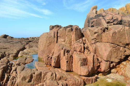 rocks rocky shore line jersey