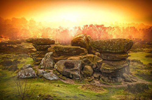 rocks outcrop landscape