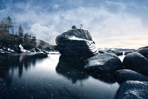 rocks boulder landscape