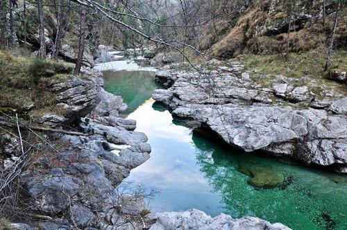 rocks  water  torrent