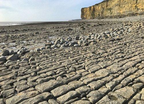 rocks  cliffs  pavement