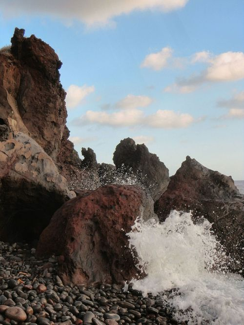 rocks sea sicily