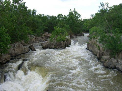 rocks river rapids