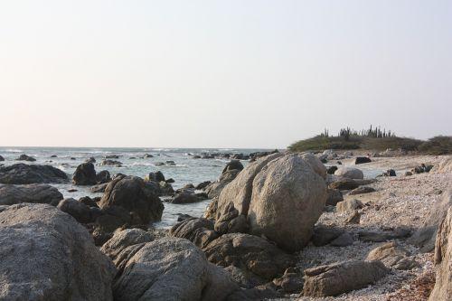 rocks sea aruba