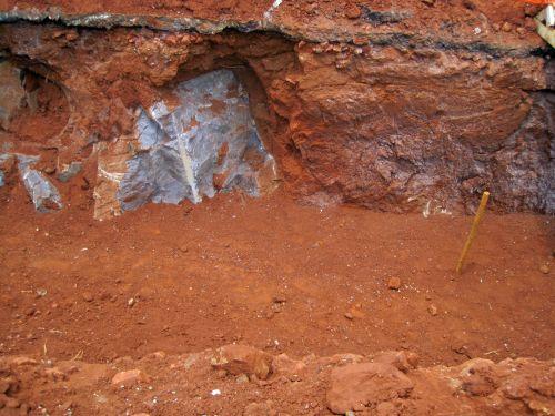 Rocks Blasted Away In A Deep Donga