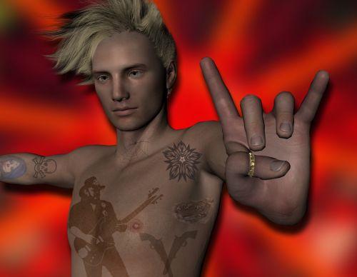 vyras, tatuiruotė, metalas, sunkus, sunkus & nbsp, metalas, rokeris, gestas, ranka, roko & nbsp, žvaigždutė, roko žvaigždė