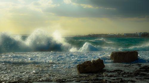 rocky coast sea sky