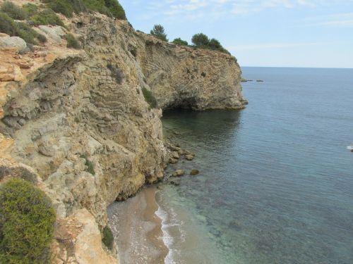 rocky coast sea ibiza