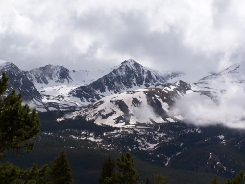 rocky mountain peak nature