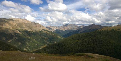 rocky mountains panoramic nature