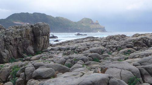 rocky shore landscape taiwan