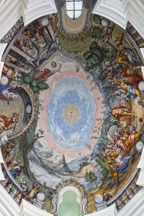 rococo  fresco  ceiling painting