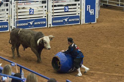 rodeo clown barrel
