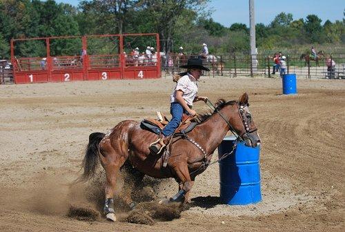 rodeo  barrel racing  cowgirl