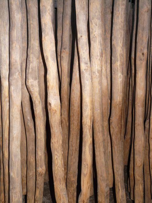 rods wooden poles wood