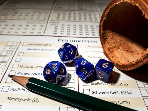 role playing game rpg cube