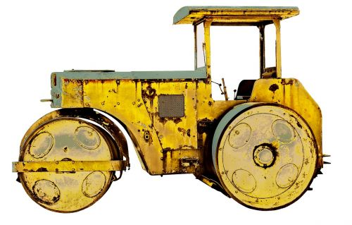 roll road roller old