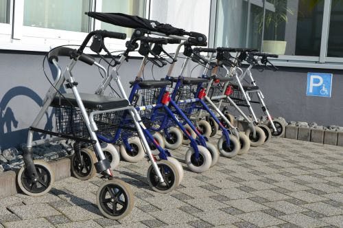 rollator seniors disabled parking space