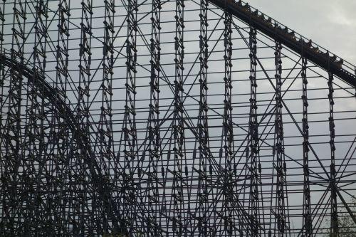 roller coaster wooden rollercoaster soltau
