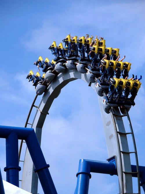 roller coaster ride people