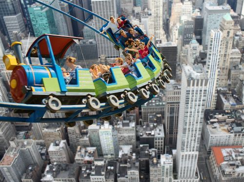 roller coaster new york very high