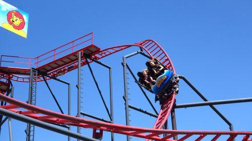roller coaster fun theme park
