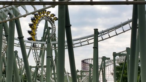 roller coaster looping yellow