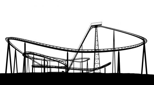 roller coaster sw black and white