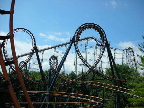 roller coaster ride amusement