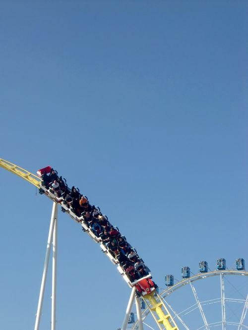 roller coaster fairground oktoberfest