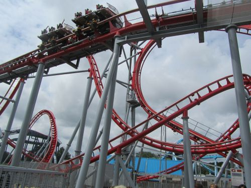 roller coster fun theme park