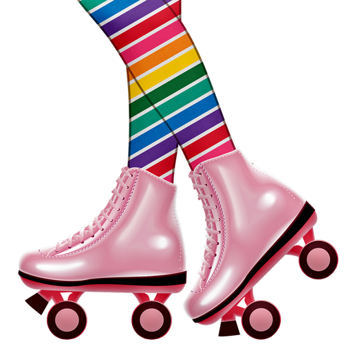 roller skating legs  roller skating girl  colorful