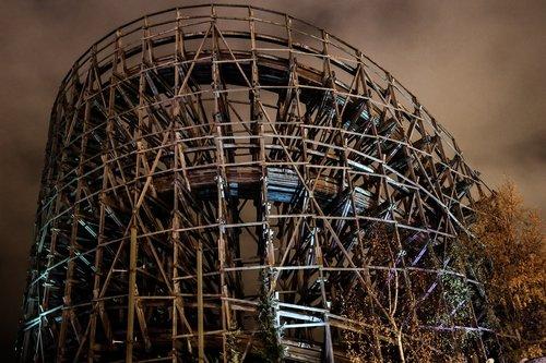 rollercoaster  amusement park  construction