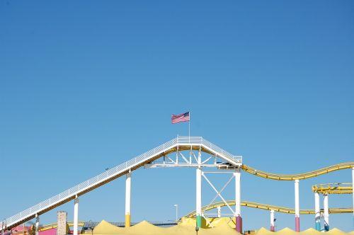 rollercoaster flag usa