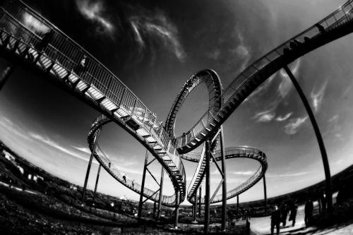 rollercoaster looping amusement